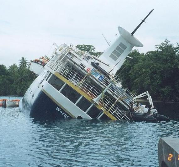 Shipwrecked World Discoverer Cruise Ship