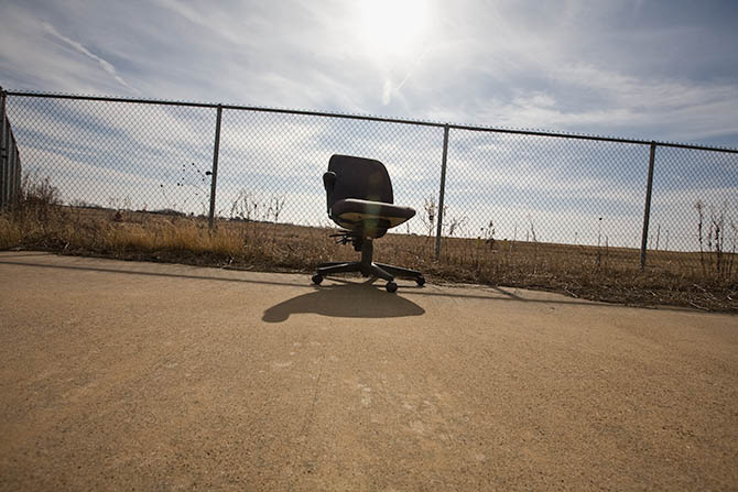 A chair in the middle of nowhere