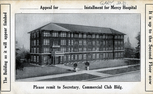 Graphic displays planned Mary Mercy Hospital, circa 1910