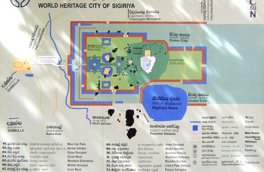 Sigiriya-tourist-map
